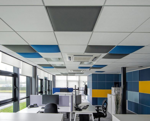 Akustikelemente Großraumbüro
