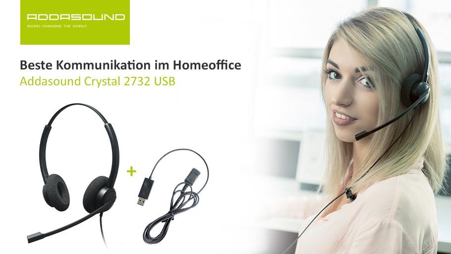 Addasound Headset 2732 mit USB-Kabel