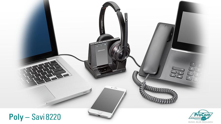 DECT Headset Poly Savi 8220 mit ANC