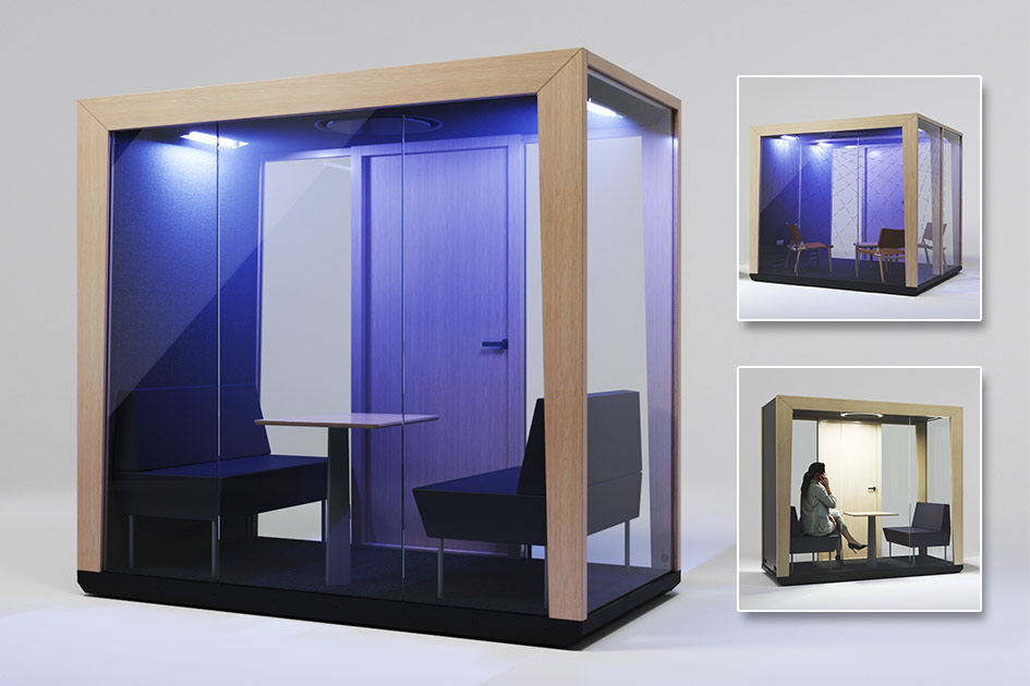 selbstdesinfizierende Meetingbox