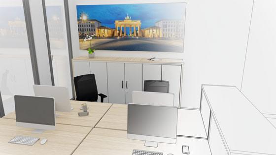 Visualisierung Büroansicht 1