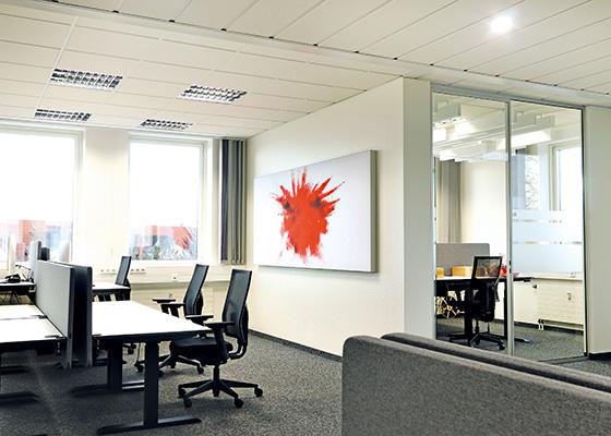 Büro mit Akustikbild