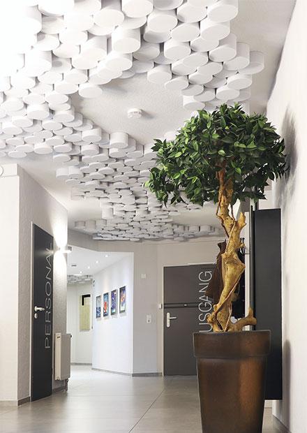 Akustikdeckenelemente Eingangsbereich