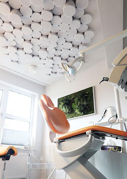 Akustikdeckenelemente Behandlungsraum